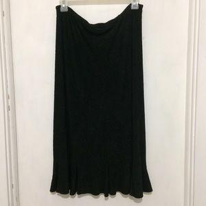 Dresses & Skirts - Lifestyle Studios womans M black pull on midiskirt